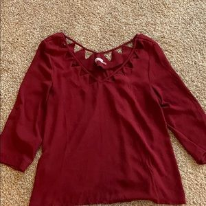 Dainty Hooligan Red blouse